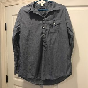 J. Crew Chambray Tunic Top